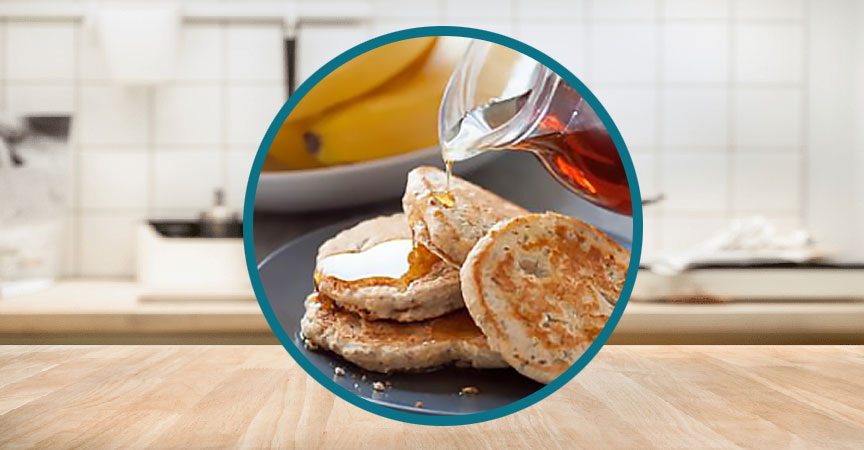 Whole-grain Pancakes with Chia and Flax Seeds