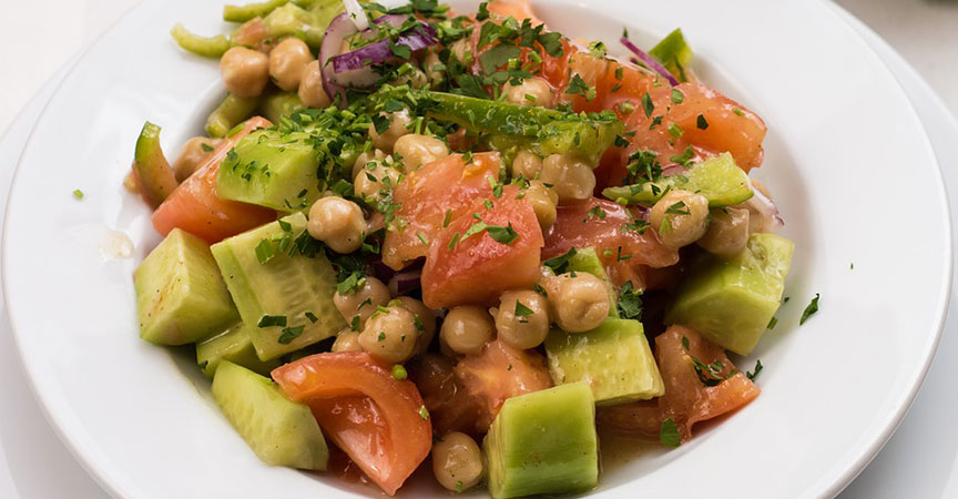 Cucumber Garbanzo Bean Salad