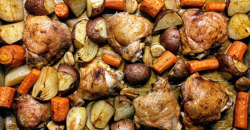 Slow Cooker Mushroom Chicken and Vegetables