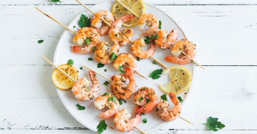 Rosemary Skewered Shrimp