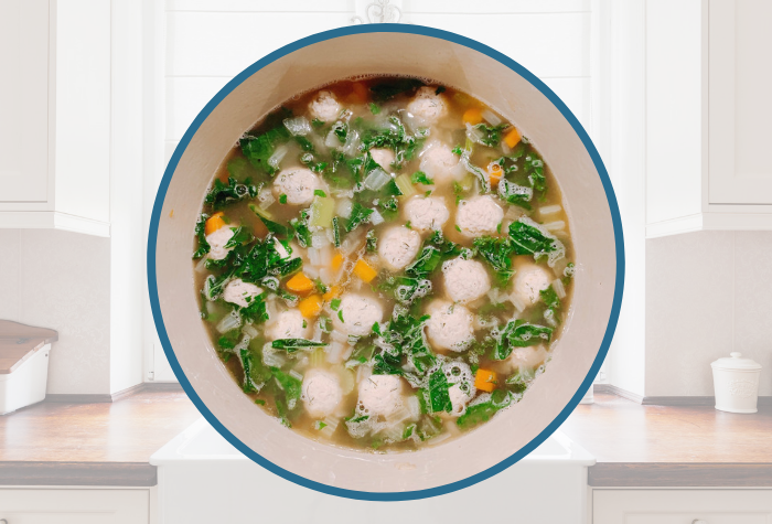 Lemon-Dill Chicken Meatball Soup