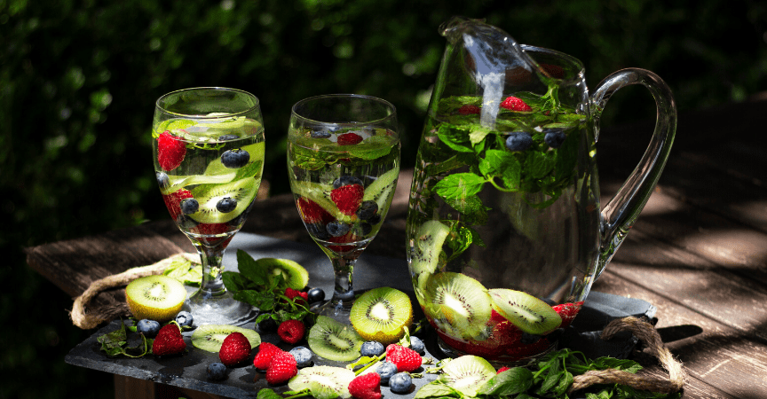 Berry, Kiwi, and Mint Infused Water Recipe