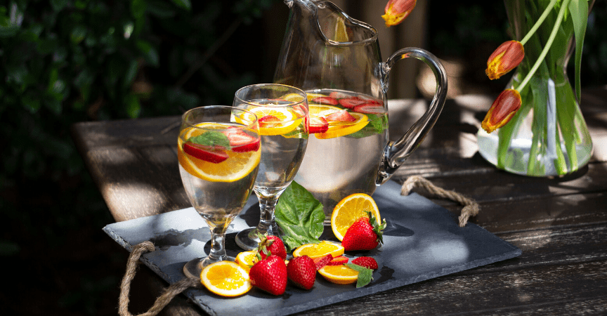 Strawberry, Basil, and Orange Infused Water Recipe