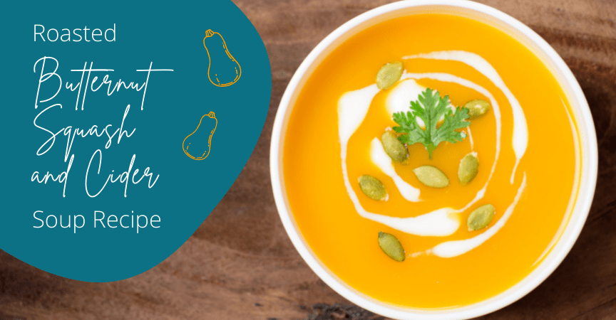 Roasted Butternut Squash and Cider Soup Recipe